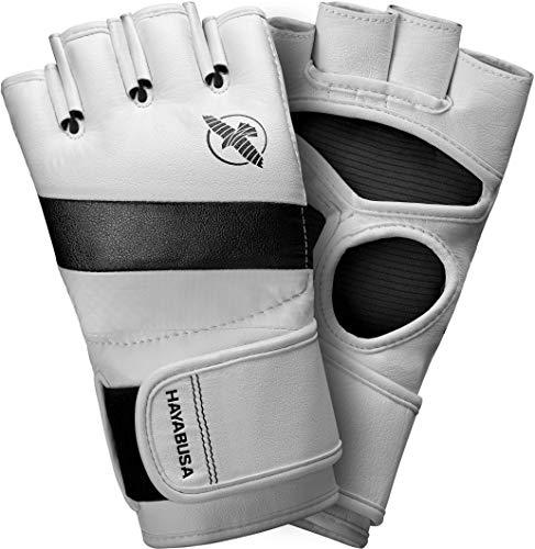 Hayabusa T3 Pro Style MMA Handschuhe für Damen und Herren, 113,4 g, Weiß/Grau, Größe L