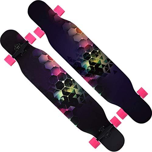 1yess - Mini tavola da Skateboard Cruiser Completo, 46 cm, 9 Pollici e 4 Ruote in Poliuretano, per Adulti, Bambini, Principianti, Ragazze, Ragazzi E
