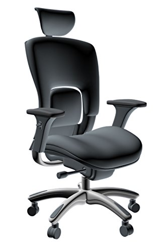 GM Seating Ergolux Genuine Leather Swivel Chair
