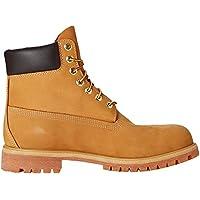 Timberland 6-Inch Premium Boot, Botas para Hombre, Amarillo (Wheat Nubuck), 44 EU