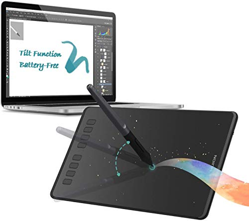 HUION Inspiroy H950P Drawing Tablets Digital Drawing Pad Computer Graphic Tablet, Tilt Feature Battery-Free Pen 8192 Pressure Sensitivity and 8 User-Defined Shortcuts