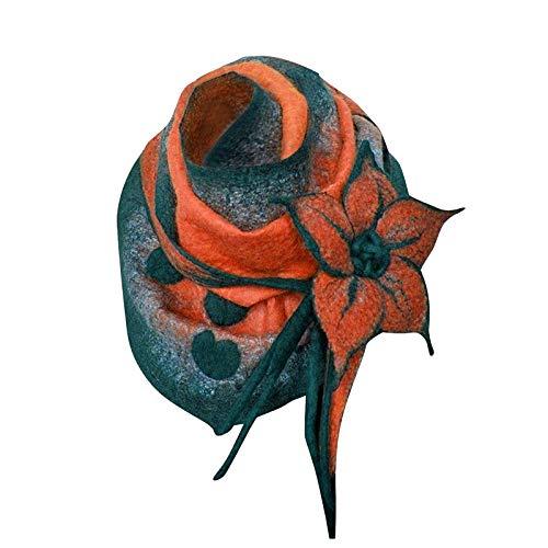 B/N TriLance 1PC Schal Retro Bedruckte Damenmode Damen Einfarbige Turban Schal Bedruckte KnöPfe, Hochwertiger Dreiecksschal, Fransen Quadratischer Schal Schal
