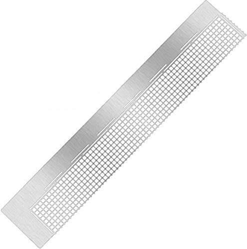 5D Diamond Painting Tool Stainless Steel Ruler Diamond Drawing Tool with 520 Blank Grids for Diamond Painting Round Full Drill & Partial Drill