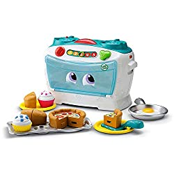 LEARNING AND COOKING: Number Loving Oven is the perfect interactive learning toy for little chefs! Kids learn how to count, share and cook through 30 songs and phrases with 16 ingredients to play with! MUSICAL BABY TOY: Enjoy cooking and learning wit...