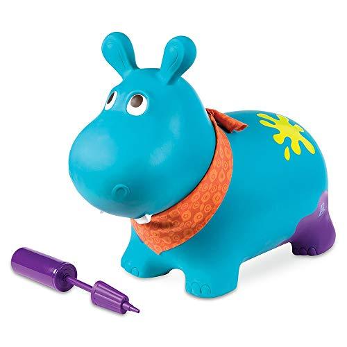 Xyanzi ertongwanju Videur Gonflable pour Hippopotame Bleu - Jouet À Enfourcher Souple pour Les Tout-Petits 18m 24\