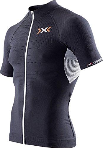 X-Bionic imperméable pour Adulte Biking on The Trick t-Shirt SH SL-Ow Tabouret Haut à Fermeture éclair intégrale Small Multicolore - Noir/Blanc