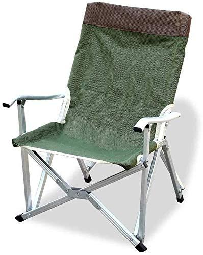 LZYANG Sedia con struttura in metallo Oxford Pranzo Pausa Sedia portatile per la pesca all'aperto sedia da ufficio