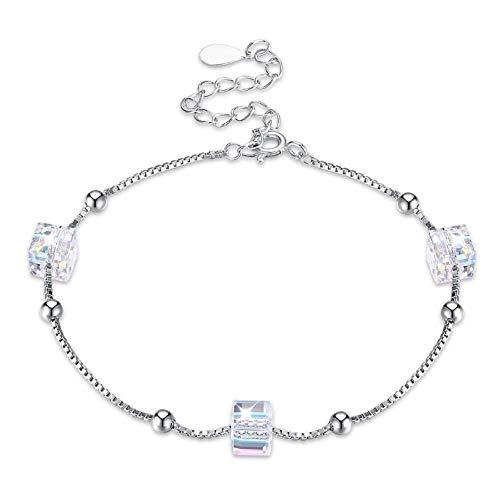 XRKHUAHUA Kristallzucker Persönlichkeit 925 Sterling Silber Armband Hohe Schmuck Weibliche Geburtstagsfeier Mode-Accessoires Geschenk