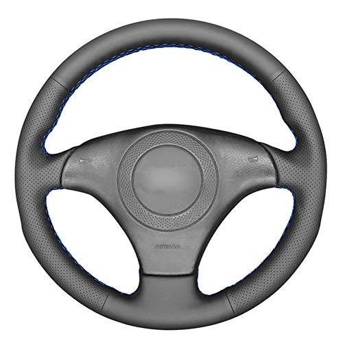XGYUII Cubierta de Volante de Coche DIY de Piel sintética Negra de PU, para Audi A8 (D2) 1998-2002 TT (8N) S4 (B5) S6 (C5) 1998-2001 S8 1998-2000