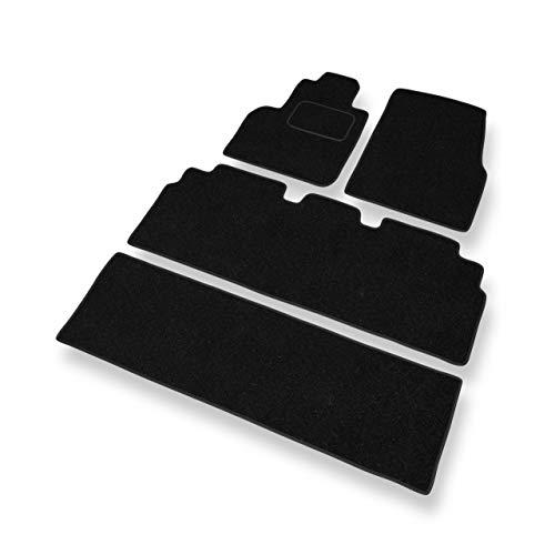 Mossa Tapis de Sol - Set de 4 Tapis de Pieds - Noir - Velours Tapis Automobiles - 5902538788977