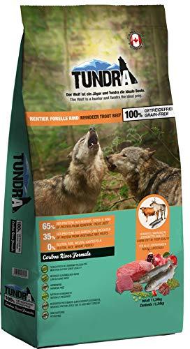 Tundra Hundefutter Rentier, Forelle & Rind - getreidefrei (11,34 kg)