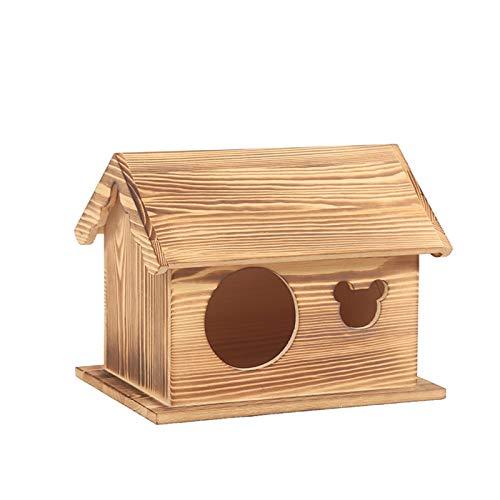 Sunbobo fábrica Vende nidos de Aves de Madera, Loros, incubadores, Golondrinas y gorriones, jaulas de cría de hámster. Fácil de Manejar (Color : Blue, Size : 19.5 * 19.5 * 20cm)