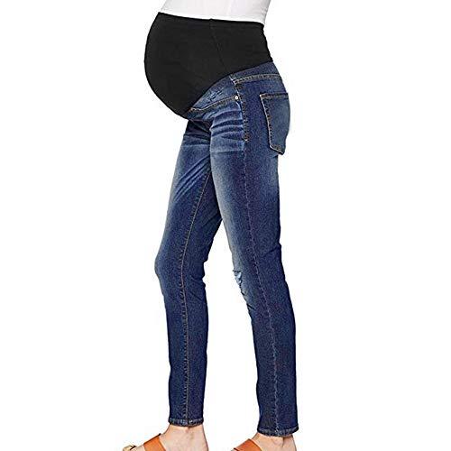 Pantalones elásticos suaves, Jeans con circunferencia de cintura