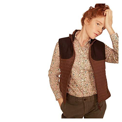 Aigle Womens Luyne LD jacht geïnspireerde gewatteerde gilet bruin