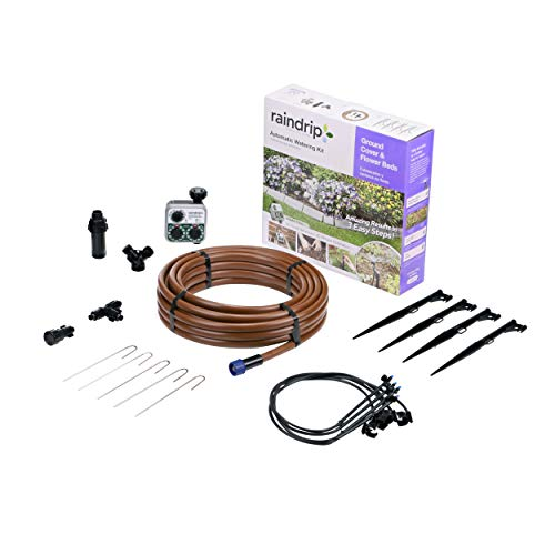 Raindrip Automatic Ground Cover & Flowerbed Kit  $49 at Amazon
