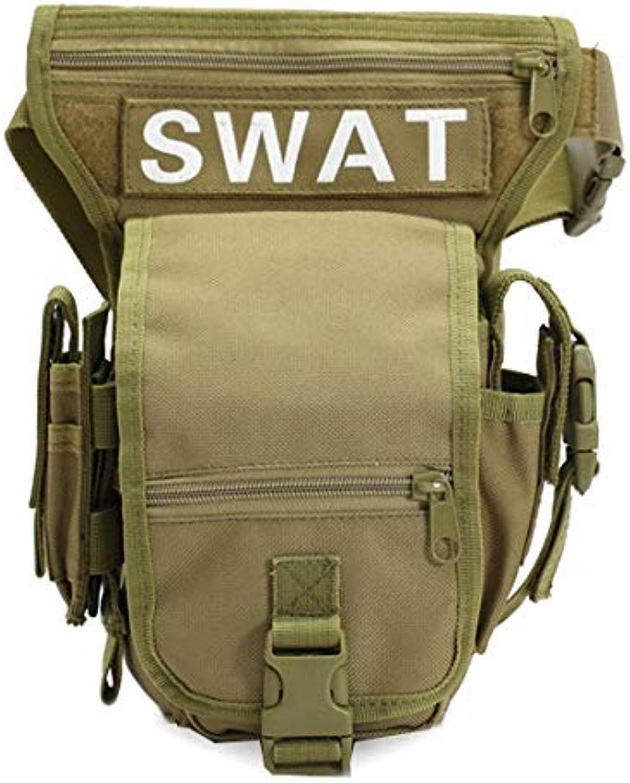 Godlikematealliance Sports&Entertainment Auentaschen Swat Militr Hüfttasche Waffen Taktik Outdoor Sport Fahrt Beinbeutel Spezielle wasserdichte Drop Utility Oberschenkeltasche Tasche (Khaki)