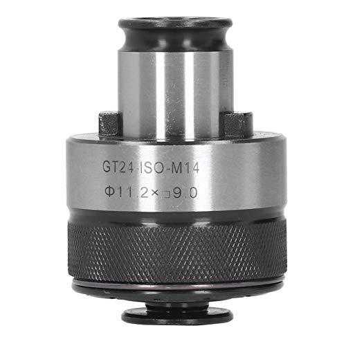 Pinza di maschiatura, utensile per ferramenta adattatore per trapano a pinza in acciaio ad alta velocità GT24 ‑ ISO ‑ M14, per maschiatori, trapani, fresatrici, alesatrici, utensili elettrici