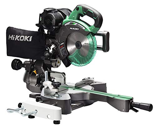 HiKOKI(ハイコーキ) 旧日立工機 コードレス卓上スライド丸のこ 36V マルチボルト刃径190mm 両傾斜 切断幅1尺(312mm) 内装材・フロア材切断 レーザーマーカー・LEDライト内蔵 蓄電池・充電器別売り チップソー付き C3607DRA(N