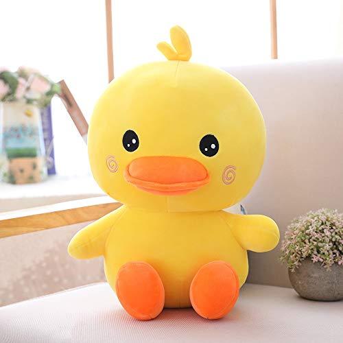 Peluches Dibujos Animados Little Yellow Duck Plush Toy Soft Sofá Almohada Cojín De Peluche Divertido Animal Doll Adecuado como Regalo