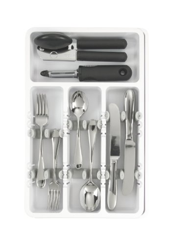 OXO Good Grips Expandable Utensil Organizer, White
