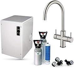 Sprudelux Power Soda Système d'eau potable sous table sans filtre avec robinet 5 voies Cucina Unica en acier inoxydable ma...