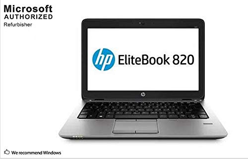 HP EliteBook 820 G2 12.5 Inch Business Laptop PC, Intel Core i5-5300U up to 2.9GHz, 8G DDR3L, 120G SSD, WiFi, Display Port, Windows 10 64 Bit Multi-Language Support English/French/Spanish(Renewed)