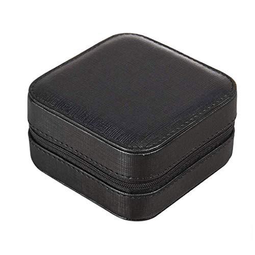 WYBFZTT-188 Joyería de la Caja de joyería de Casos-joyero de Cuero de imitación de Varios Compartimentos con Espejo for Las Pulseras del Collar Pendientes Anillos