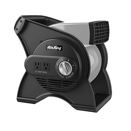 Air King 9550 3Speed Pivoting Utility Blower with Grounded Outlets