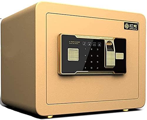 Cajas fuertes y hucha, Cajas de seguridad para el hogar, Caja fuerte electrónica digital para oficina en casa pequeña de acero de seguridad con dos llaves (35 25 25 cm), Caja para esconder dinero