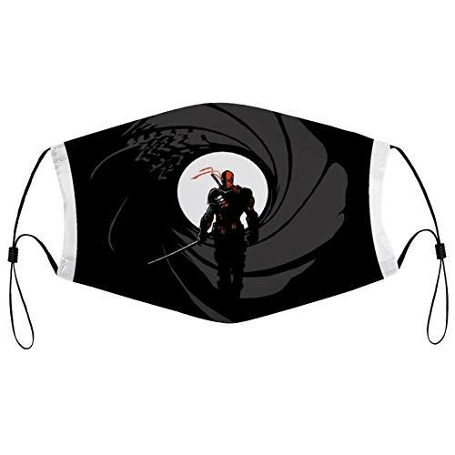 Deathstroke Slade Wilson Licence To Slash James Bond Gun Barrel Fashion Personalized dust mask, printed mask, full face mask, sunscreen face towel, 2 replaceable filter element masks, reusable masks.
