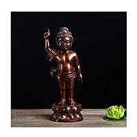 """仏像 桜雲母仏像の家の彫像。10.2""""仏像。グッズと置物の精神的なリビングルームの装飾、ヨガ禅の装飾 (Color : Black)"""