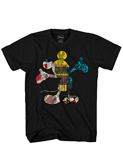 Disney Fill Me Mickey Mouse Adult Mens T-shirt Black (XX-Large)