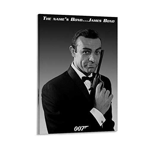 NQSB Film Stars Sean Connery 007 James Bond 4 - Poster su tela e stampa artistica da parete, 40 x 60 cm