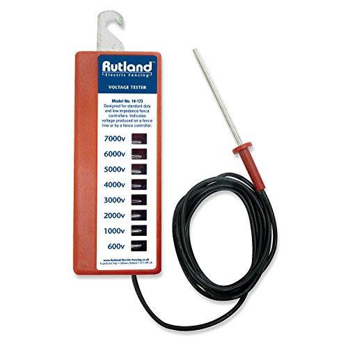 Rutland Misuratore di Tensione elettrica con 8 indicatori - Ideale per misurare Il voltaggio di recinti elettrici