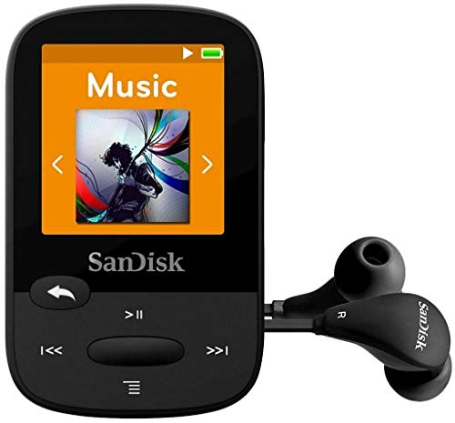 SanDisk SDMX28-016G-G46K Clip Sport Plus MP3-Player, 16 GB, Schwarz (Generalüberholt)