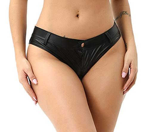 Verano Wetlook Hot Pants Mini Shorts Damen (L)