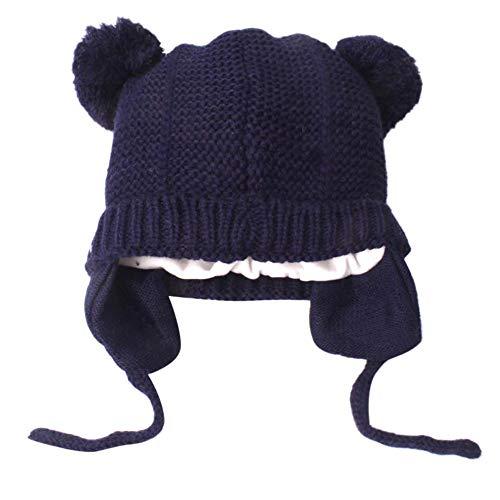 QinMM Gorros de Punto de Bebé Niño Niña Invierno Sombrero Piloto Tejer Earflap Sombreros
