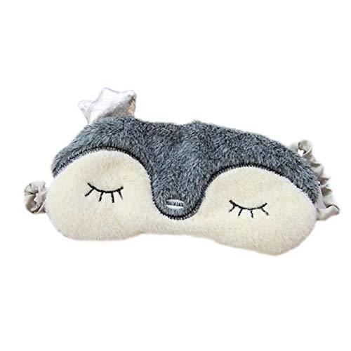A Rameng Masque de Sommeil Masque de Nuit Forme de Animale Kawaii Masque pour Yeux Dormir pour Voyage