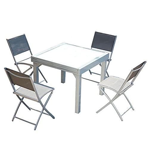 table de jardin aluminium extensible carrefour