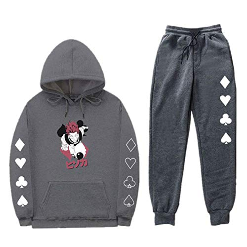 Dannel Pullover Women Tops and Pencil Jogging Pants Suits Two Piece Sets Hunter X Hunter Print Sets Tracksuit Men Hooded Sweatshirt