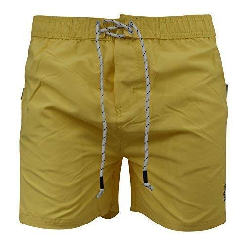 Smith and Jones Shorts de Natation pour Hommes Neuf Doublure Maille Détente Plage Natation Surf Short - Jaune Crème, XL