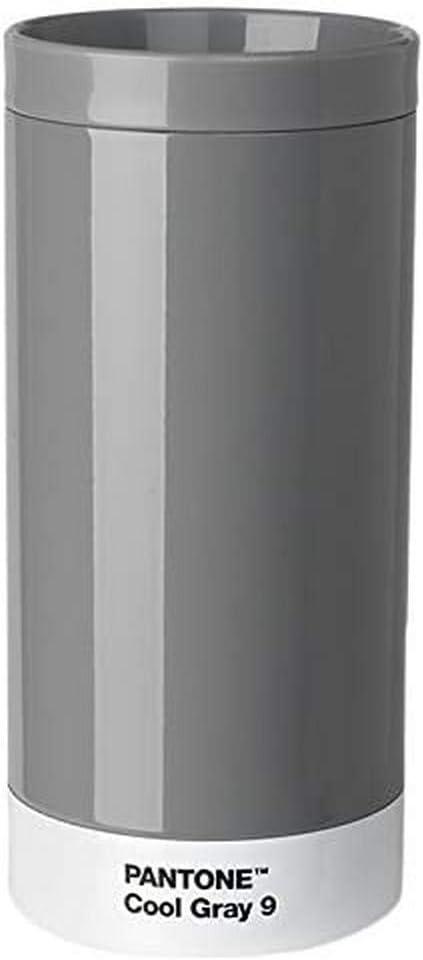 Pantone Travel Mug, Stainless Steel, ABS, Cool Gray 9, 7.5 x 7.5