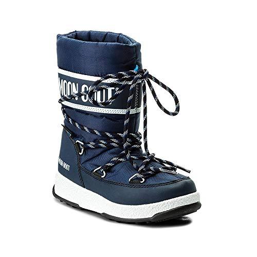 Moon Boot W.E. JR Boy Sport WP - - Blue Navy, 36 EU EU