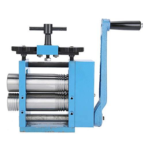 Máquina de Laminación Manual - Prensa de Rodillo de Fabricación de Bricolaje de Joyería - Equipo de Procesamiento de Tabletas con Manivela Herramienta de Prensa de Joyería para Joyeros