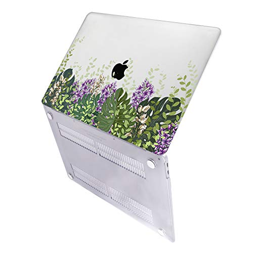 SDH Older for MacBook Air 13 Case (Model: A1369 / A1466, 2010-2017 Release), Plastic Hard Shell & Gradient Keyboard Skin Cover & Dust Plug Compatible with 13 inch for MacBook Air, Flower Leaves 10