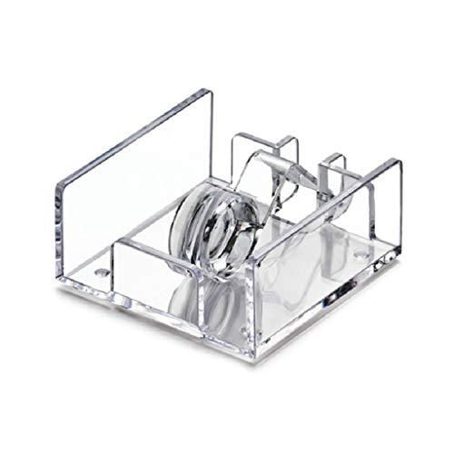 NoBrand Manyo - Caja de pañuelos cuadrada, plástico acrílico, diseño de papel, servilleta, mesa dispensador de papel higiénico, transparente, 13,5 x 13,5 x 6,3 cm