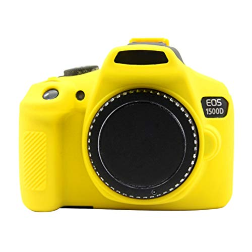 ZHANGYANENN Accessori per Fotocamere Custodia Protettiva in Silicone Morbido for Canon EOS 1300D / 1500D (Camouflage) (Colore : Giallo)