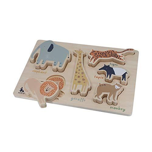 Lernspielzeug Puzzle aus Holz, 7-tlg.