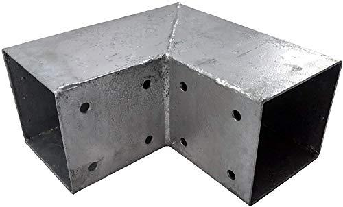 Loggyland Holzverbinder ~ Eckverbinder ~ Steckverbinder ~ Pfostenverbinder für 2 x Kantholzbalken 70 x 70 mm ~ feuerverzinkt