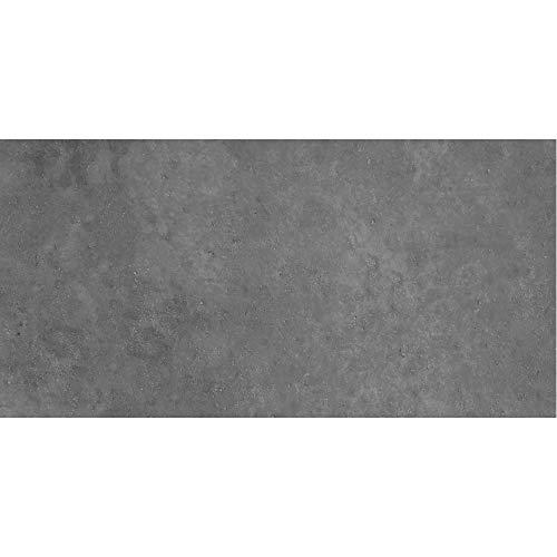PrintYourHome Fliesenaufkleber für Küche und Bad | Dekor Beton Dunkelgrau | Fliesenfolie für 10x20cm Fliesen | 42 Stück | Klebefliesen günstig in 1A Qualität
